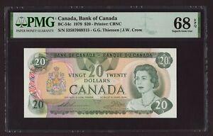 Canada 🇨🇦 1979 - $20 Thiessen/Crow - PMG Superb Gem UNC 68 EPQ- TOP POP FINEST
