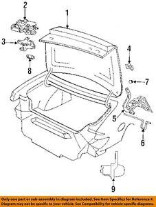 93-97 eagle vision trunk lid