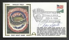 Ron Santo Signed First Wrigley Night Game Gateway Stamp Envelope 8/8 Postmark
