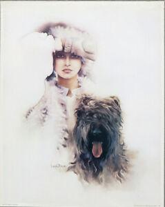 Sara Moon Diana Original 1977 Red Baron Poster 29 x 23