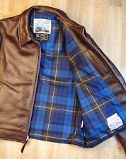 Aero Highwayman sz 46 (fits like 50) Brown Chromexcel FQHH Leather Jacket