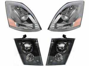Volvo 2012 2013 2014 2015 VN VNL VNM 630 670 Series HEADLIGHTS FOG LIGHTS SET