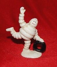 MICHELIN TIRE MAN  FIGURINE ROLLING TIRE Cast Iron Collectible Promo  da