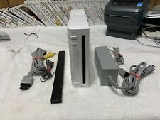 Nintendo Wii White Console With Cords & Sensor Bar RVL-001 GameCube Compatable