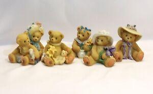 LOT 5 Cherished Teddies FLOWER girls Chelsea & Daisy, Lily, Millie, Iris & Susan
