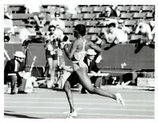 1984 Vintage Photo Valerie Brisco-Hooks running event Olympic Track Field Trials
