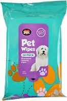 50 Pet Cleaning Wet Wipes for Dog Puppy Dirt Mud Paws Ears Body Head Face