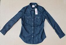 Levis Womens Classic Western Tailored Black Denim Shirt- MEDIUM