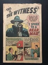 THE WITNESS #1 (1947) SCARCE TIMELY COVERLESS COPY!