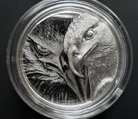 2020  3oz Mongolian Majestic Eagle - Ultra High Relief .999 % Silver Proof Coin