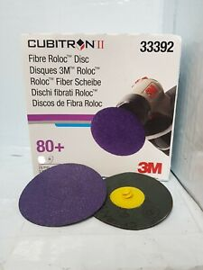 1 x Disc 3M™ Cubitron™ II Roloc™ Purple Disc 75mm 80 Grit 33392