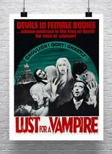 Lust For A Vampire Vintage Horror Movie Poster Rolled Canvas Giclee 24x30 in.
