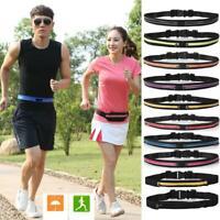 Dual Pocket Running Belt Phone Pouch Waist Bag Sports Travel Pack Outdoor TOP