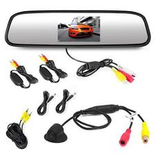 New Wireless Car Mirror W/ 4.3'' LCD Screen & Wireless Backup Camera PLCM4370WIR