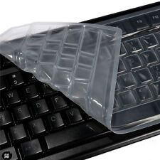 Clear Silicone Computer Keyboard Cover Keyboard Skin Protector For PC Desktop 1X