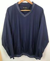 ⛳️ FootJoy FJ Windbreaker Jacket Mens XL Pullover Long Sleeve Navy Blue Golf
