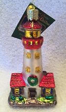 Lighthouse,Old World Christmas,2001 Collection,Blown Glass,W/Tag & Charm,Retired
