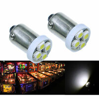 PA 30x #1893 #44 #47 #1847 BA9S 4 SMD LED Pinball Machine Light Bulb White 6.3V