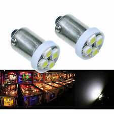 50x #1893 #44 #47 #1847 BA9S 4SMD LED Pinball Machine Light Bulb White 6.3V P2