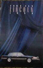 1990 Lincoln Town Car Sales Brochure 90