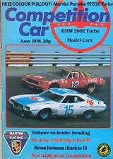 Competition Car magazine -  June 1974 BMW 2002 Turbo Lola T70 Martini Racing