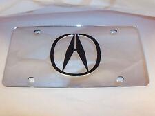 Acura License Plate Silver/Black NEW!!