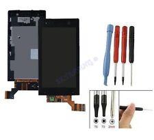 ECRAN LCD + VITRE TACTILE SUR CHASSIS BLOC COMPLET POUR SONY XPERIA U ST25i NOIR