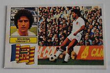 Cromo Liga 82-83. Solsona. Valencia C.F. Ediciones Este. Nuevo