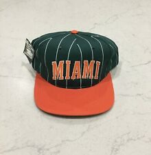 Vintage Miami Hurricanes Starter Pinstripe Hat Brand New