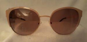 NWT ELLE Womens Designer Cat Eye Sunglasses 100% UVA-UVB Rose Pink Metal Frame