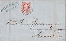 Complete brief 8 feb 1854 Rotterdam (halfrond B) naar Middelburg (dagtekening)