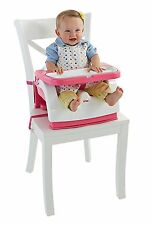 Fisher Price Grow With Me Pink and White Portable Travel Booster Seat Chair NEW