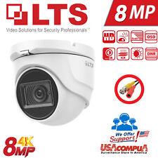 8MP 4K Matrix IR Turret 4-in-1 LTS Camera: TVI/CVI/AHD/CVBS, 2.8mm, 30m Smart