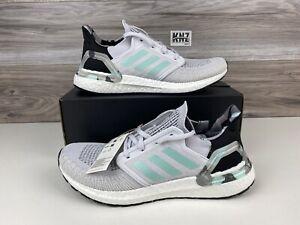 Men's Adidas Ultraboost 20 Grey Camo Mint Black   size 11   FV8323   Retail $180