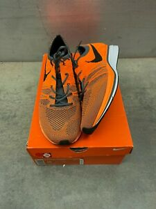 """Nike Flyknit Trainer+ """"Total Orange"""" Athletic Shoes 2012 532984-880 Mens Size 10"""
