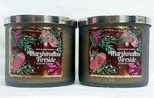 2 Bath & Body Works Marshmallow Fireside 3-Wick Filled Candle 14.5 oz