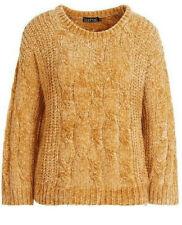 Ladies Women Chenille Cable Jumper Mustard Size L BNWT RRP £25 WJOct24-4