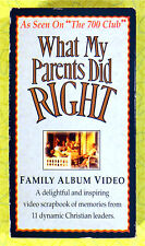 What My Parents Did Right Family Album Video VHS 700 Club Gaither Christian Show