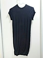 BASIC LITTLE BLACK DRESS SIZE SMALL SHORT SLEEVE MOCK NECK LBD GOING OUT CASUAL