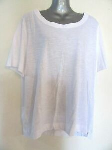 NEW White Soft Stretchy Cotton T-shirt Tee Top BNWT XL