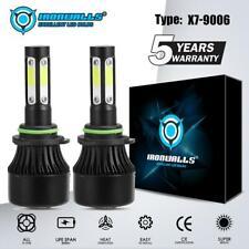 4-Side 9006 HB4 COB LED Headlight Kit High/Low Lamp Bulbs 6000K White Xenon HID