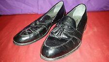 Stacy Adams Genuine Snake Skin Black Dress Tassel Loafers Shoes size 12M