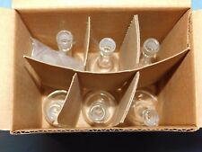 PYREX CORNING 5640 VOLUMETRIC FLASK 25ML CLASS A 6 PACK WITH CAPS NEW IN THE BOX