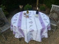 Tischdecke Provence 180 cm rund creme aus Frankreich, pflegeleicht und bügelfrei