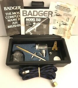 BADGER PROFESSIONAL Airbrush Kit With Black Storage Case Model #150 Dick Blick