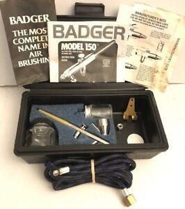 BADGER PROFESSIONAL Airbrush Kit With Black Storage Case Model #150 Dick Blick