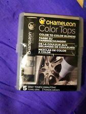 Chameleon Color Tops 5 Pen Set Alcohol Blending Gradient - Gray Colour Tones