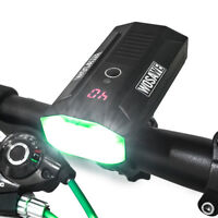 1600 Lumen High Light Bike Head Power Bank USB Rechargeable Bicycle Front 2 Lamp