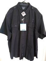 Men's 5XL 5.11 Tactical Midnight Navy Blue Button Up Short Sleeve Uniform Shirt