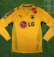 AEK Athens Home Shirt - Official Puma Long Sleeved Football Jersey - All Sizes